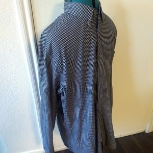 John Varvatos Shirts - John Varvatos Star USA Mens Black Gingham Checked